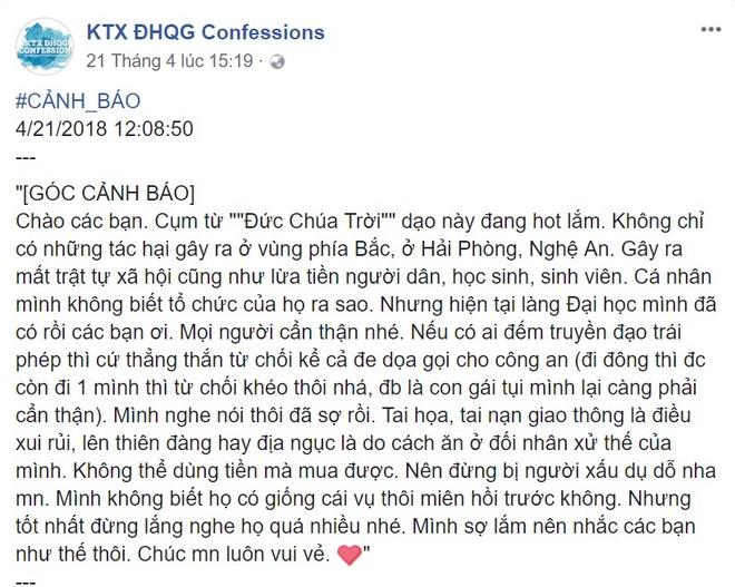 Sinh vien Sai Gon bo hoc di truyen dao 'Hoi Thanh Duc Chua Troi' hinh anh 1
