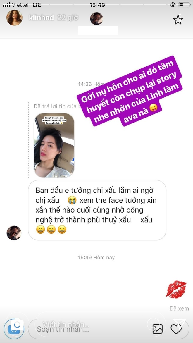 Khanh Linh The Face dap tra the nao khi bi goi 'phu thuy xau xi'? hinh anh 2