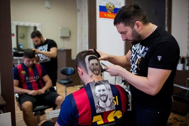 Chang trai khac hinh Messi sau dau de co vu World Cup 2018 hinh anh 1