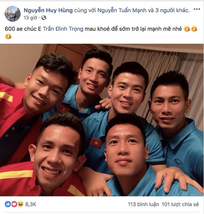 Tuyen thu Viet Nam gui loi tam biet Tran Dinh Trong tren mang hinh anh 4