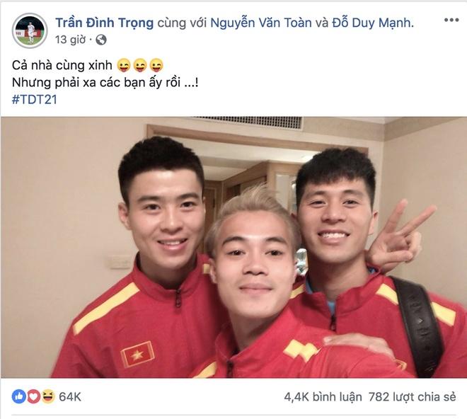 Tuyen thu Viet Nam gui loi tam biet Tran Dinh Trong tren mang hinh anh 1