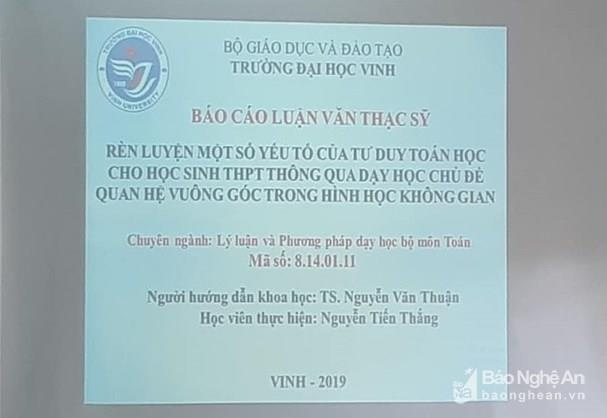 Xuc dong buoi bao ve luan van thac si 'vang' tac gia o Nghe An hinh anh 3