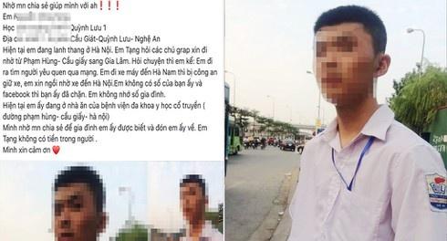 Thuc hu chuyen nam sinh Nghe An di xe may 200 km ra Ha Noi tim ban gai hinh anh 1