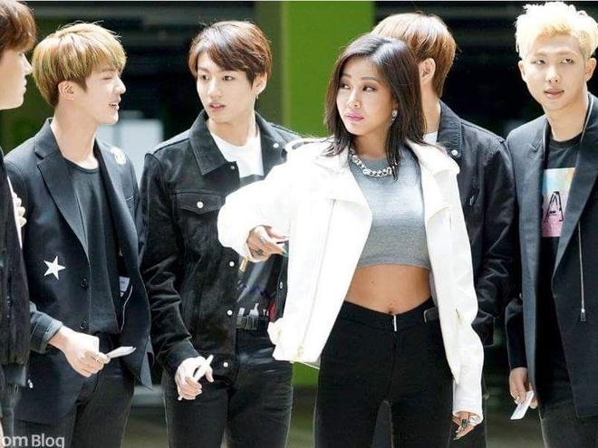 Jessi va BTS cung xuat hien ca tinh trong clip quang cao hinh anh