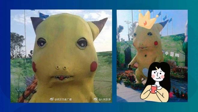 Pikachu phien ban 'xau dau don' tro thanh hien tuong mang TQ hinh anh 1