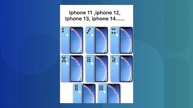 cu dan mang Trung Quoc che iPhone 11 anh 2
