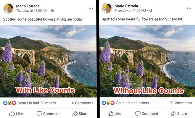 Facebook bat dau an so luot like bai viet hinh anh 2
