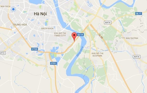 Oto tong xe may, nam sinh vang khoi cau Thanh Tri tu vong hinh anh 2