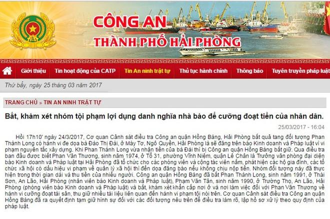 Bat nha bao tong tien nguoi dan o Hai Phong hinh anh 1