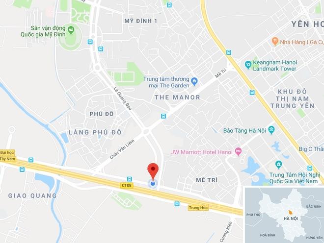 Chiều 6/12, nhiều tổ 141 Công an Hà Nội làm nhiệm vụ quanh sân Mỹ Đình. Ảnh:Google Maps.