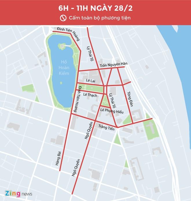 """""""Phong tỏa"""" 10 tuyến phố trong ngày chính thượng đỉnh Mỹ – Triều"""