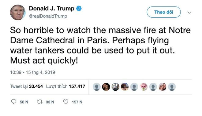 Phap ta hoa voi 'ke' dap lua Nha tho Duc Ba Paris cua TT Trump hinh anh 1