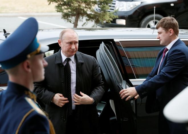 TT Putin bay truc thang den dao Russky gap Chu tich Kim Jong Un hinh anh