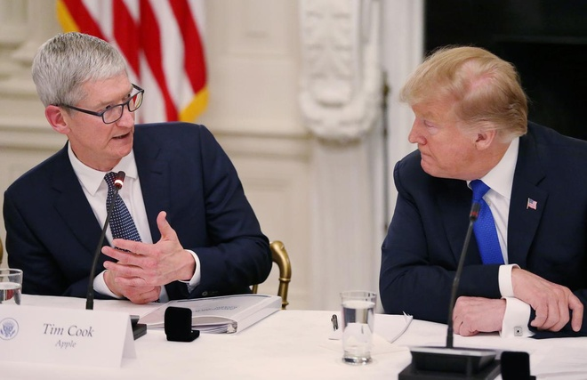 CEO Apple canh bao TT Trump ve thue quan voi Trung Quoc hinh anh 1
