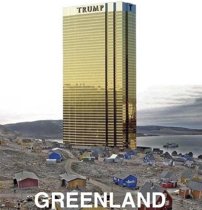 TT Trump đăng ảnh 'chế', hứa không xây Tháp Trump ở Greenland