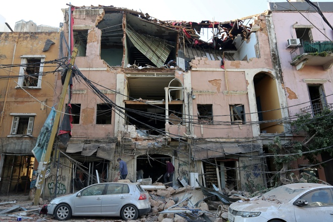 Nga dieu may bay cho benh vien da chien toi Beirut anh 1