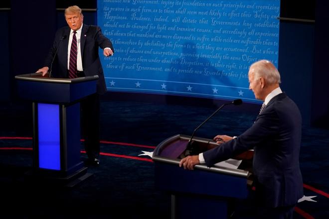 Trump - Biden buoc vao buoi 'so gang' dau tien anh 22