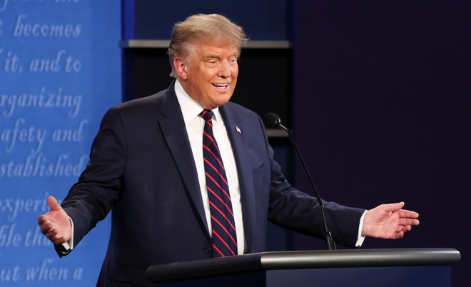 Trump - Biden buoc vao buoi 'so gang' dau tien anh 18