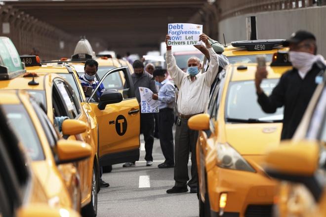 tai xe taxi bieu tinh tai New York anh 4