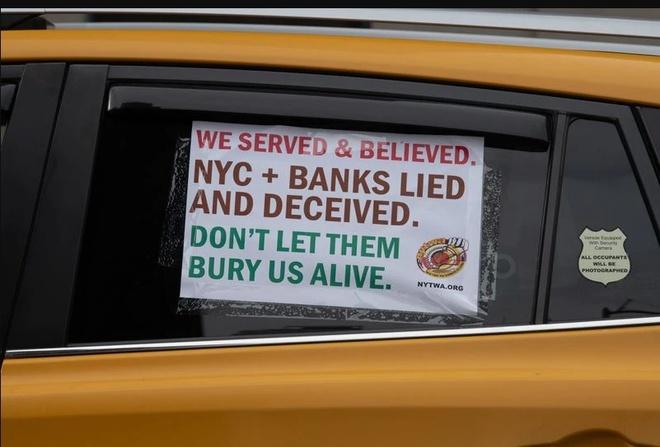 tai xe taxi bieu tinh tai New York anh 5