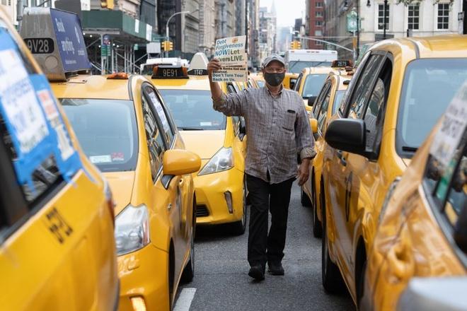 tai xe taxi bieu tinh tai New York anh 2