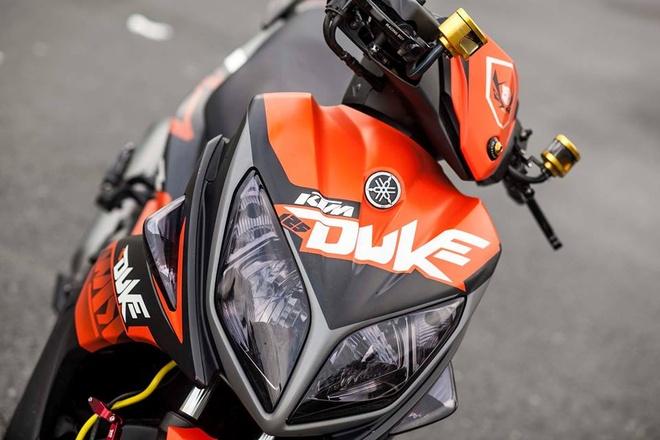 Nouvo LX phong cach KTM do trong 3 nam cua biker Sai thanh hinh anh