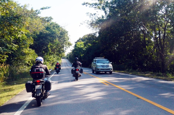 4 chang trai Viet vuot 5.000 km qua Malaysia bang xe may hinh anh 6