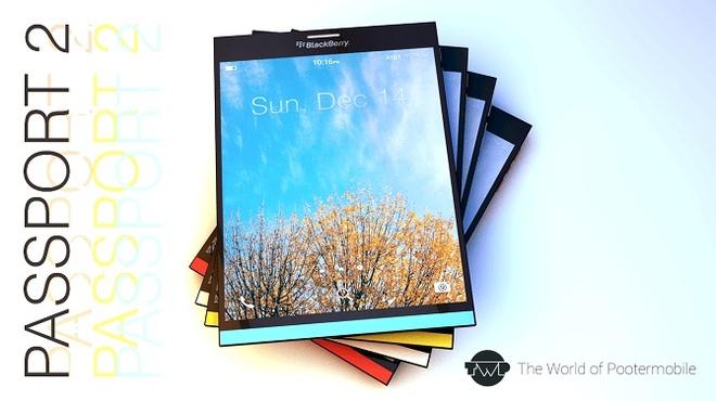 Concept BlackBerry Passport 2 voi man hinh toan cam ung hinh anh