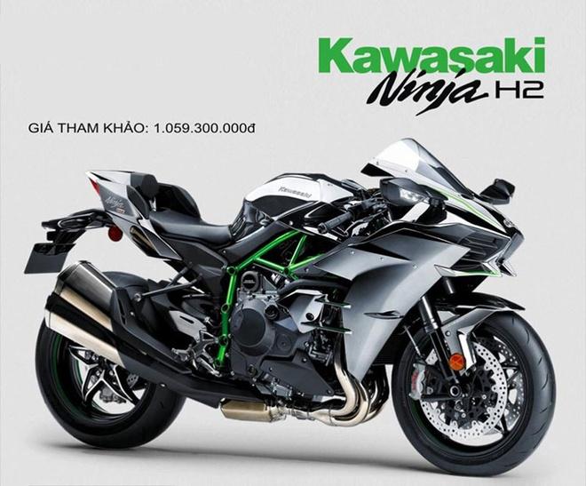 Kawasaki Ninja H2 chinh hang gia tren 1 ty tai Viet Nam hinh anh