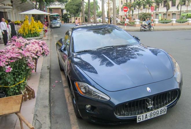 Sieu xe Maserati bien doc cua dai gia Sai Gon di choi Tet hinh anh