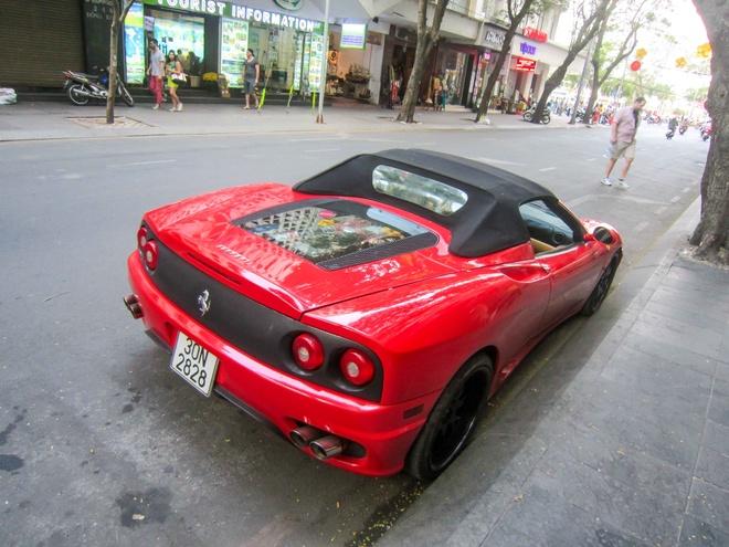 Sieu xe Ferrari F360 dao pho Sai Gon dau nam hinh anh