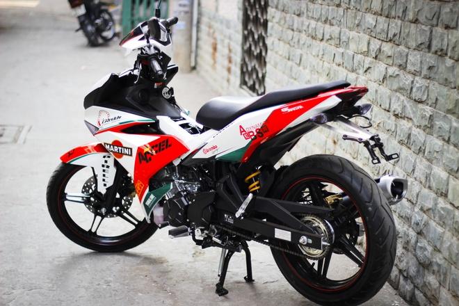 Exciter 150 do phong cach Ducati tai Sai Gon hinh anh