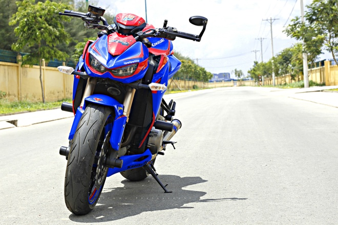 Kawasaki Z1000 do phong cach sieu nhan o Sai Gon hinh anh