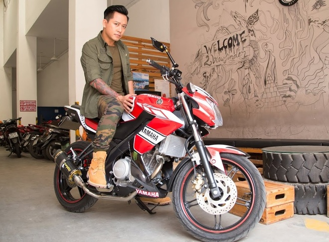 Tuan Hung khoe xe con tay Yamaha FZ150i hang doc hinh anh
