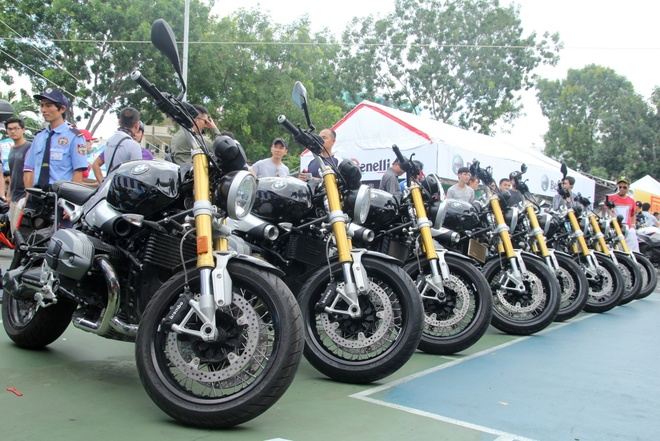 Dan moto BMW R Nine T tai Vietnam Motorbike Festival 2015 hinh anh
