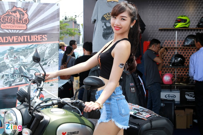 Dan chan dai tai Vietnam Motorbike Festival 2015 hinh anh 4