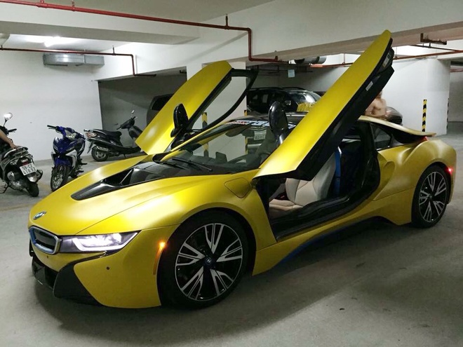 BMW i8 do thanh mau vang doc nhat tai Sai Gon hinh anh