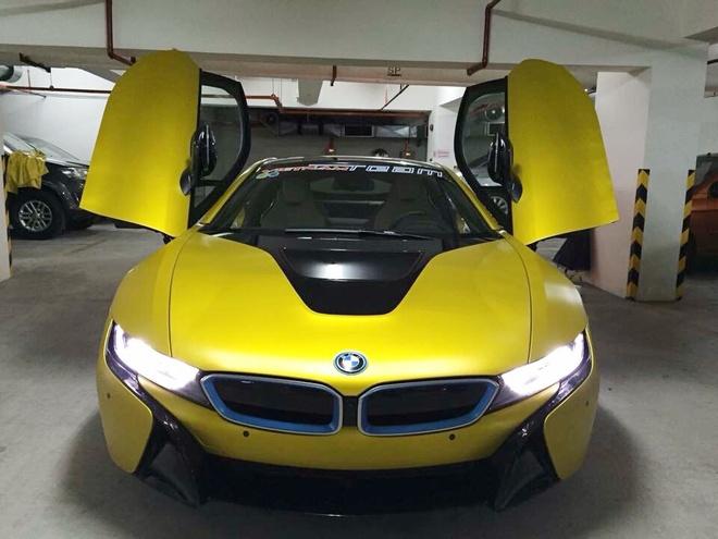 BMW i8 do thanh mau vang doc nhat tai Sai Gon hinh anh 3