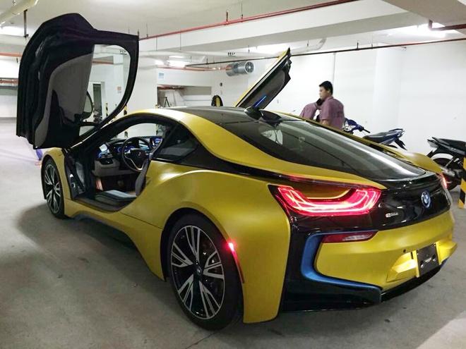 BMW i8 do thanh mau vang doc nhat tai Sai Gon hinh anh 4