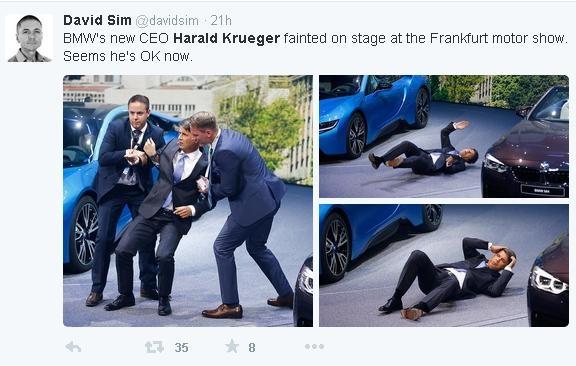 CEO BMW 'dot quy' tren san khau trong lan dau ra mat hinh anh 2