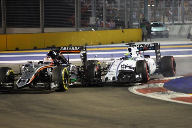 Pha va cham giua Felipe Massa va Nico Hulkenberg hinh anh