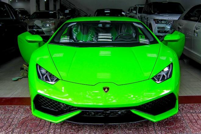 Lamborghini Huracan mau xanh la ve Viet Nam hinh anh
