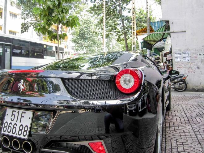 Sieu xe Ferrari 458 Italia bien so dep o Sai Gon hinh anh 6