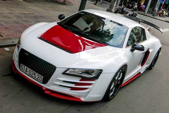 Sieu xe Audi R8 do mau doc o Sai Gon hinh anh