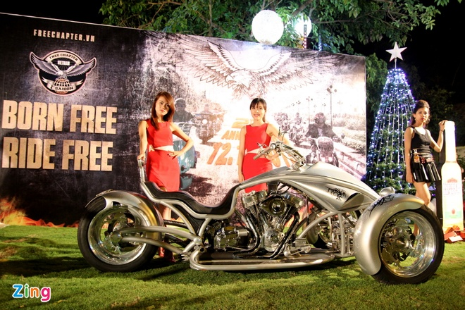 1.000 biker hoi tu o Sai Gon khoe xe Harley doc hinh anh 15