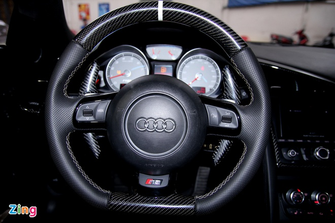Chi tiet sieu xe Audi R8 do carbon hang doc o Sai Gon hinh anh 11