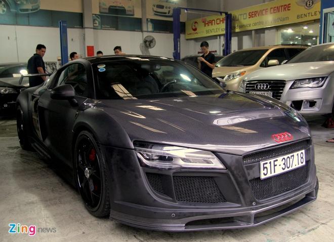 Chi tiet sieu xe Audi R8 do carbon hang doc o Sai Gon hinh anh 2