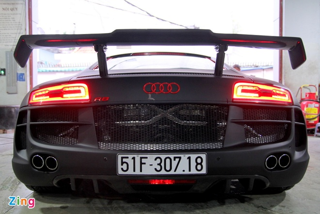 Chi tiet sieu xe Audi R8 do carbon hang doc o Sai Gon hinh anh 4