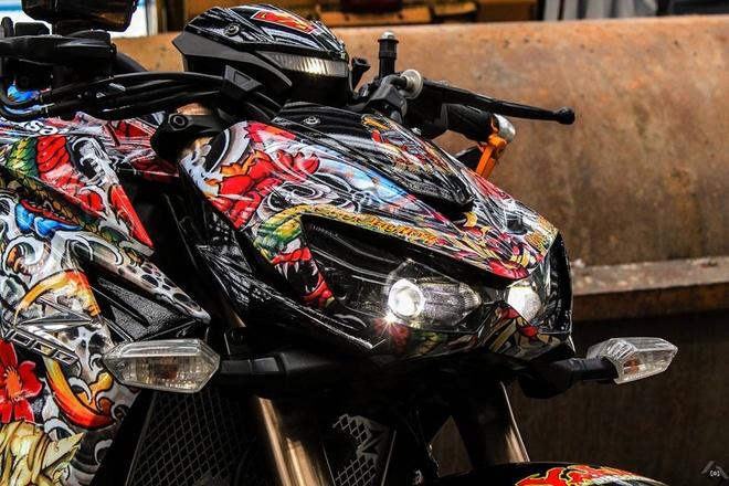 Kawasaki Z1000 do phong cach mafia Nhat cua biker Sai Gon hinh anh 4
