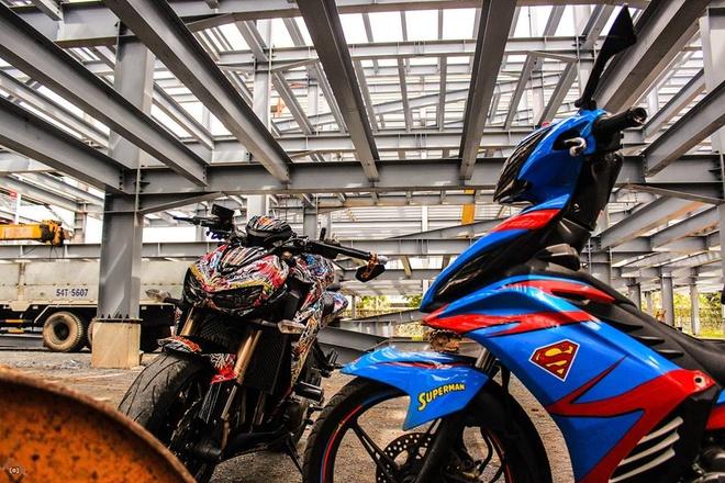 Kawasaki Z1000 do phong cach mafia Nhat cua biker Sai Gon hinh anh 8